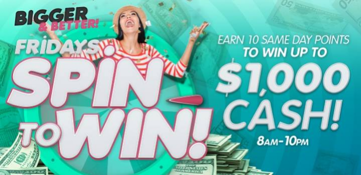 Spin to win every Friday at Mole Lake Casino in Crandon