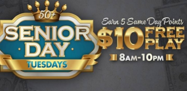 Senior Day Free Play at Mole Lake Casino