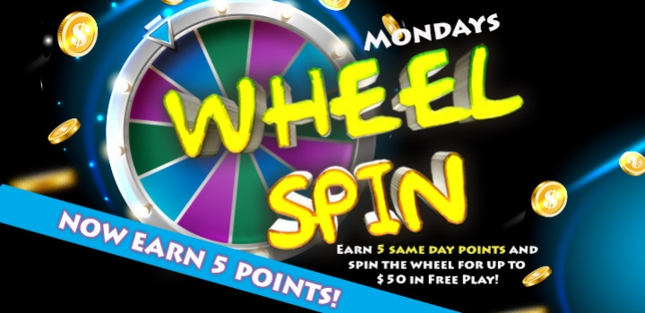 Monday Wheel Spin at Mole Lake Casino