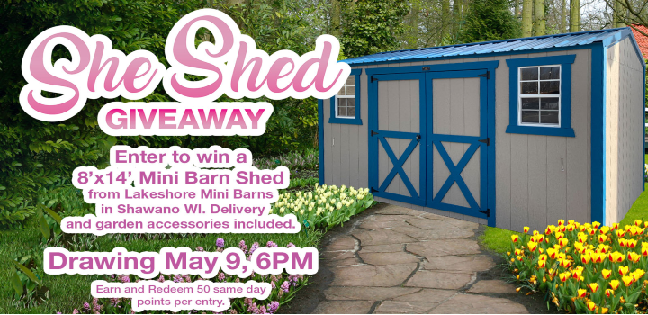 Win A She Shed At Mole Lake Casino In May
