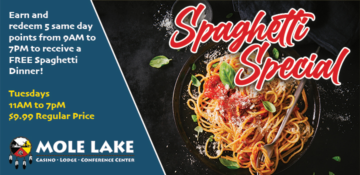 Mole Lake Casino Lodge In Crandon Offers The Best Casino Dining Deal Every Tuesday