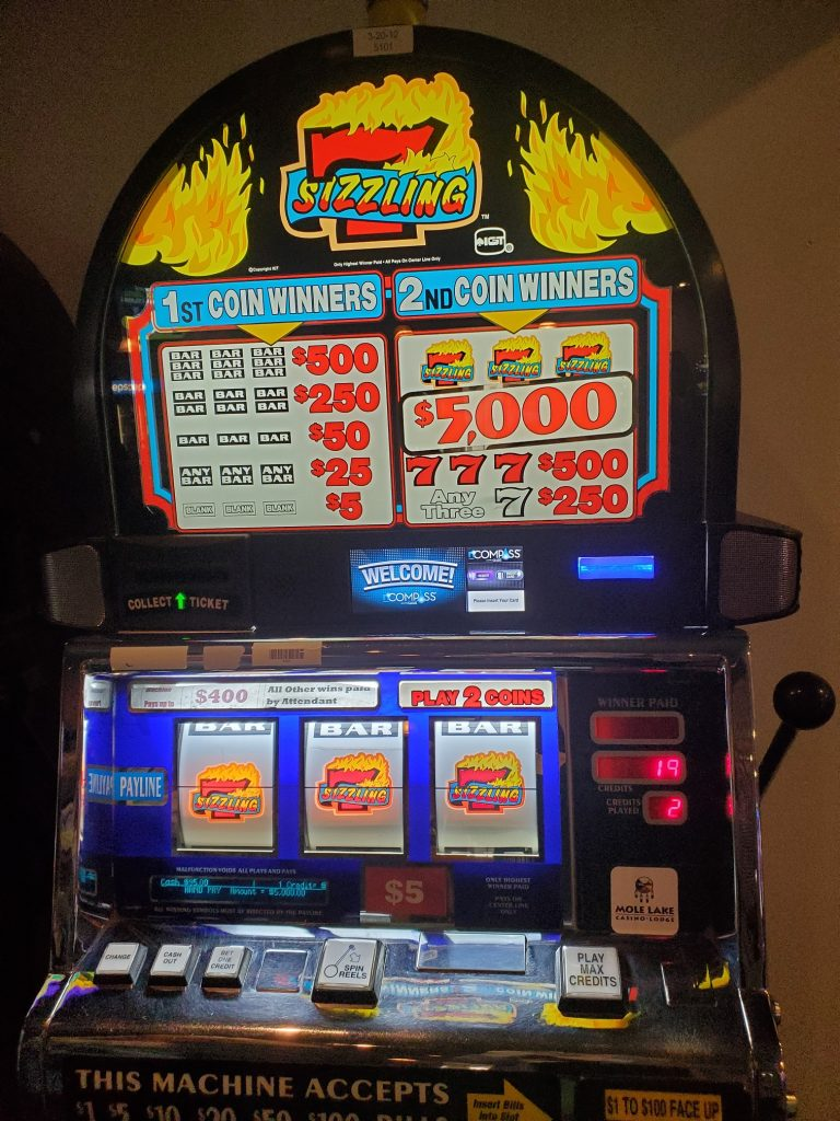Mole Lake Casino Lodge In Crandon Wisconsin Has Your Chance to Play Sizzling 7