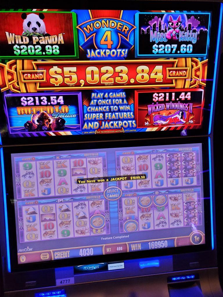 You Can Play Wonder 4 Jackpots At Mole Lake Casino Lodge In Crandon Wisconsin